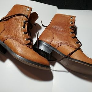 Boys Cowboy Boots 13D  Justin vtg. Leather Cowboy